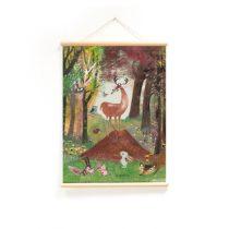Little and Pure poster praatplaat Fiep Dieren in het bos