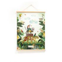 Little and Pure poster praatplaat Pimpelmees In de tropen