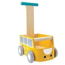PlanToys loopwagen bus geel