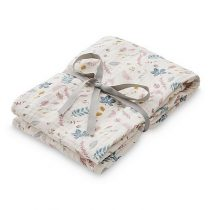CamCam swaddle doek pressed leaves rose