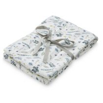 CamCam swaddle doek pressed leaves blue