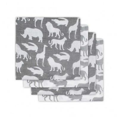 Jollein hydrofiele doeken Safari stone grey 4 stuks
