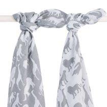 Jollein hydrofiele multidoek 115x115 Safari stone grey grijs 2 stuks