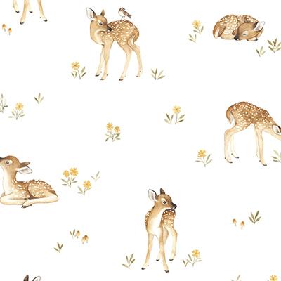 Lilipinso Oh Deer behang Fawns hertjes