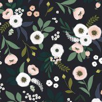 Lilipinso Wonderland behang flowers donker