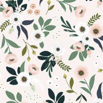 Lilipinso Wonderland behang flowers licht