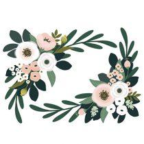 Lilipinso Wonderland muursticker XL floral ornament