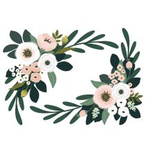 Lilipinso Wonderland muursticker XL floral ornament