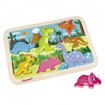Janod Chunky puzzel dinosaurus