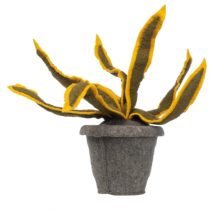 Kidsdepot vilten decoratie plant Sanseveria geel