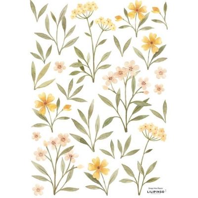 Lilipinso muursticker Oh Deer oranje en gele bloemen