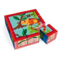 Scratch blokkenpuzzel Jungle 9 blokken