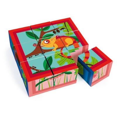 Scratch blokkenpuzzel Jungle 9 blokken