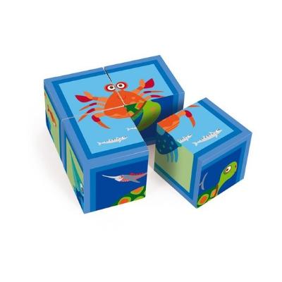 Scratch blokkenpuzzel Oceaan 4 blokken