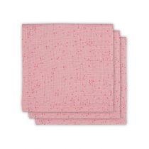 Jollein hydrofiele monddoekjes mini dots blush pink 3 stuks