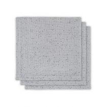 Jollein hydrofiele monddoekjes mini dots mist grey 3 stuks