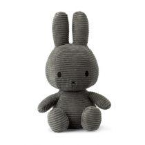 Nijntje Miffy knuffel corduroy grijs 33 cm