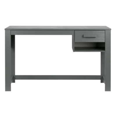 Woood Dennis Junior Bureau Grenen Steel Grey Geborsteld
