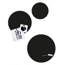 Groovy Magnets krijtbord magneetstickers circels zwart 3 stuks