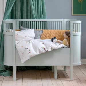 Sebra Kili ledikant en juniorbed Mist Green incl. matras