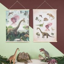 Little and Pure poster praatplaat Bij de dinosaurussen