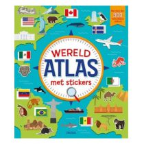 Deltas Wereldatlas met stickers