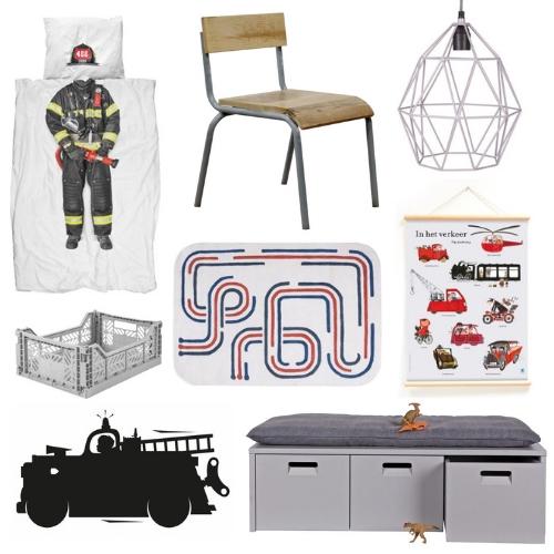 Inspiratie kinderkamer met brandweer thema