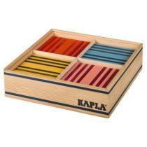 Kapla 100 plankjes 8 kleuren assorti in kist