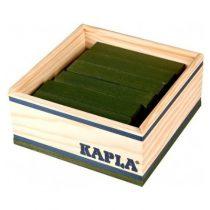 Kapla 40 plankjes donkergroen in kistje