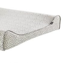 Mies & Co aankleedkussenhoes Cozy Dots offwhite