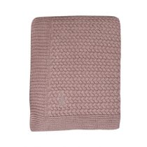 Mies & Co deken ledikant soft knitted Pale Pink