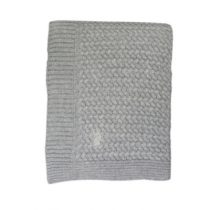 Mies & Co deken ledikant soft knitted grey