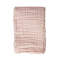 Mies & Co deken ledikant soft mousseline soft pink