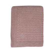 Mies & Co deken wieg soft knitted Pale Pink