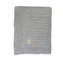 Mies & Co deken wieg soft knitted grey