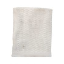 Mies & Co deken wieg soft knitted offwhite