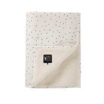 Mies & Co deken wieg teddy Adorable Dot offwhite