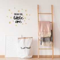 POM muursticker Dream Big zwart en goud
