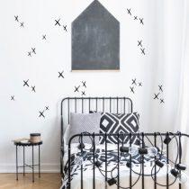 POM muurstickers getekende kruisjes zwart
