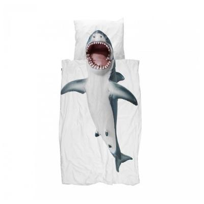 Snurk dekbedovertrek Shark eenpersoonsbed