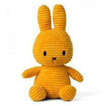 Nijntje Miffy knuffel corduroy geel