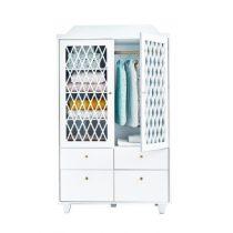 Camcam Harlequin kledingkast 2 deurs wit