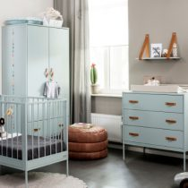 Coming Kids Bliss ledikant plus commode zeegroen