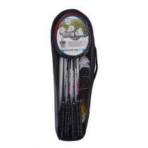 Engelhart badmintonset 4 spelers met uitschuifbare staanders