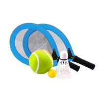 Tennis racket set blauw