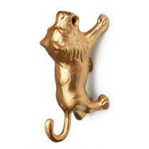 Kidsdepot Lino wandhaak leeuw goud