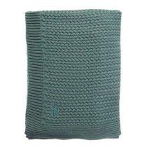 Mies & Co deken wieg soft knitted Deep Forest