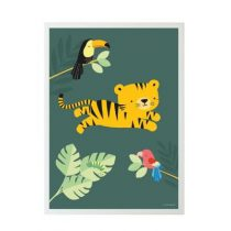A Little Lovely Company poster jungle tiger