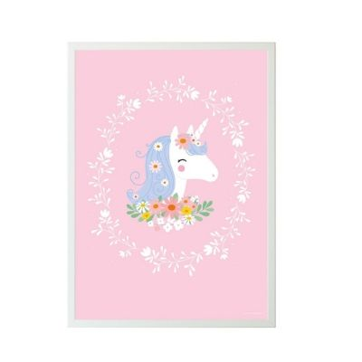 A Little Lovely Company poster lovely unicorn