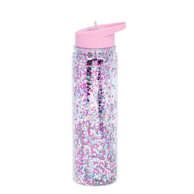 A Little Lovely Company drinkfles XL glitters roze en multicolour
